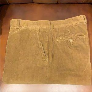 Grant Thomas flat front corduroy pants